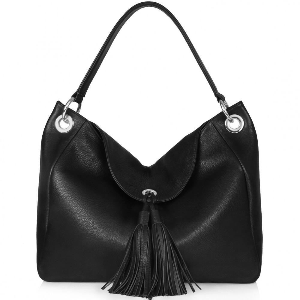 Жіноча шкіряна сумка-мішок Хобо Lora KF-016