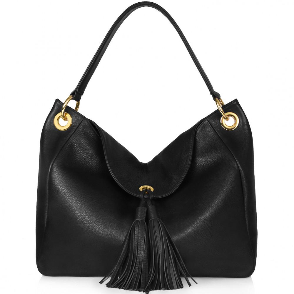 Жіноча шкіряна сумка-мішок Хобо Lora KF-129