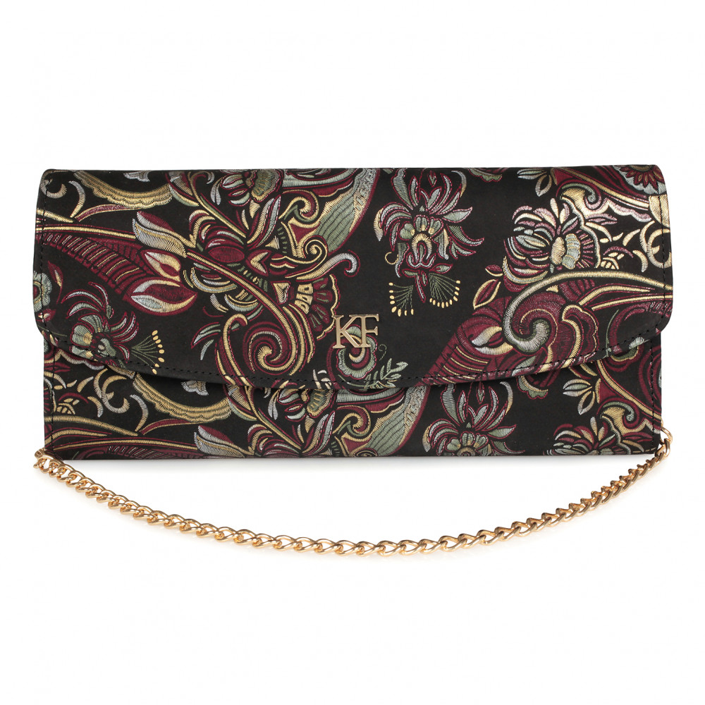 Women's leather clutch bag Gloria KF-1640