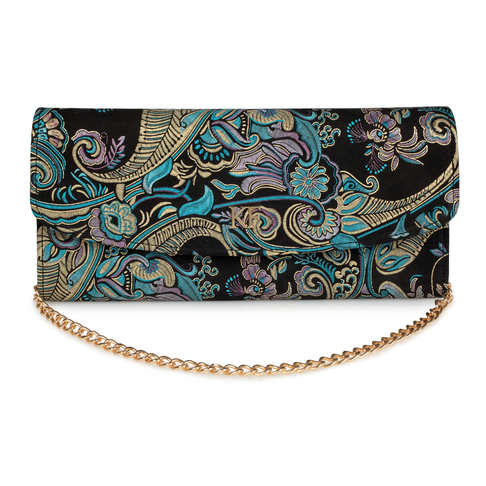 Women's leather clutch bag Gloria KF-1641
