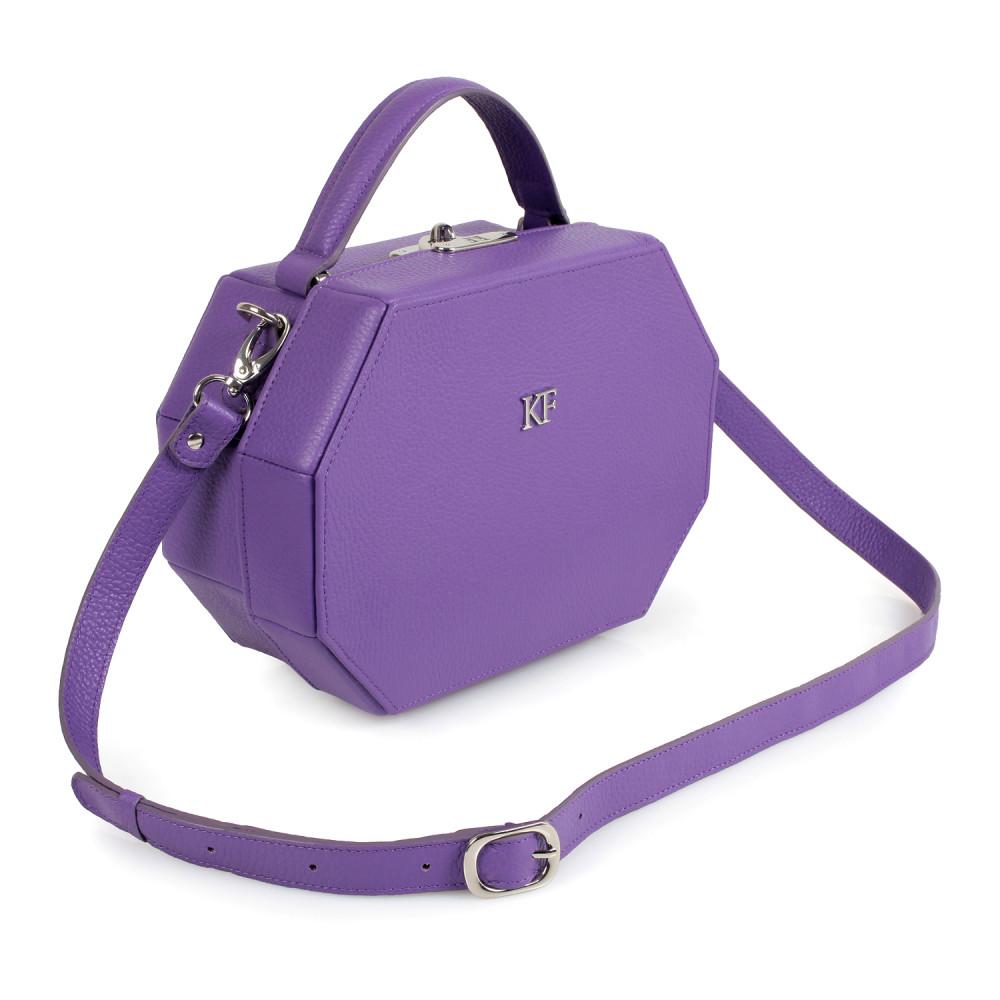 Жіноча шкіряна сумка-шкатулка Alexa KF-1648