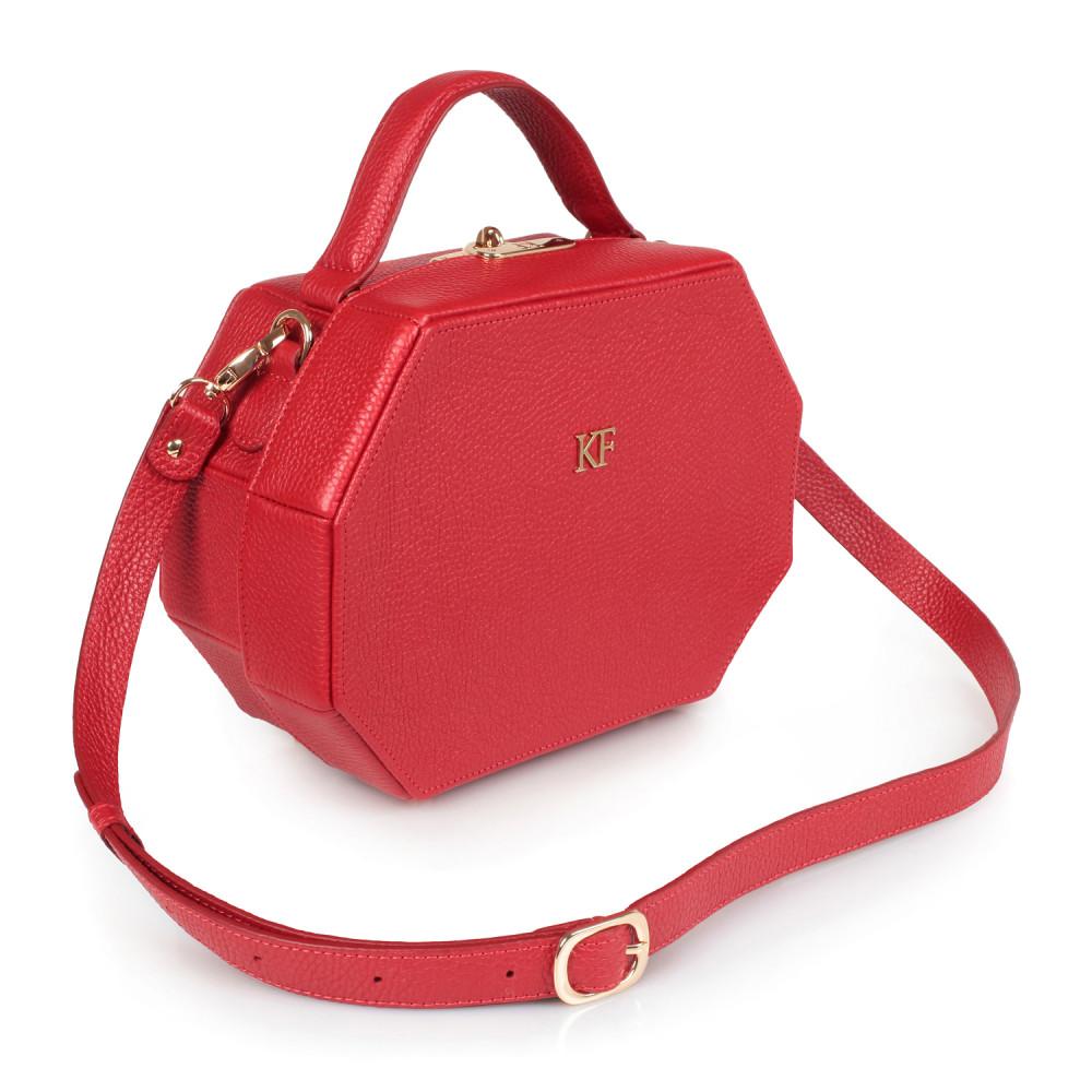 Жіноча шкіряна сумка-шкатулка Alexa KF-1680