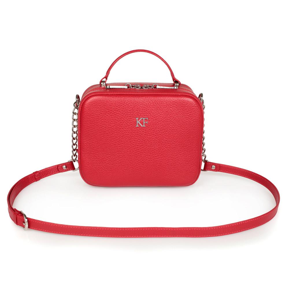 Women's leather crossbody bag Casey KF-1682