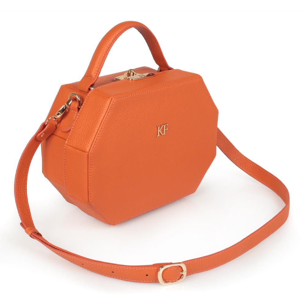 Жіноча шкіряна сумка-шкатулка Alexa KF-1844