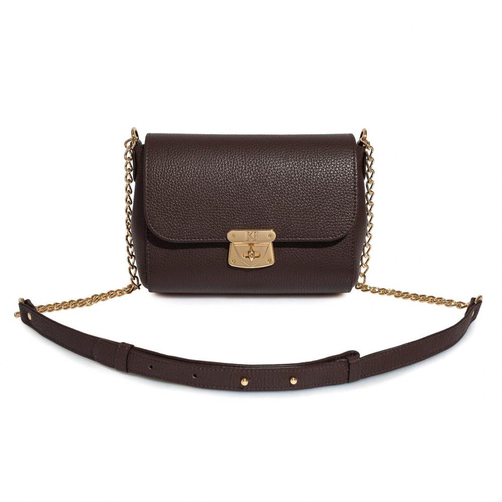 Жіноча шкіряна сумка на ланцюжку Prima S KF-1886