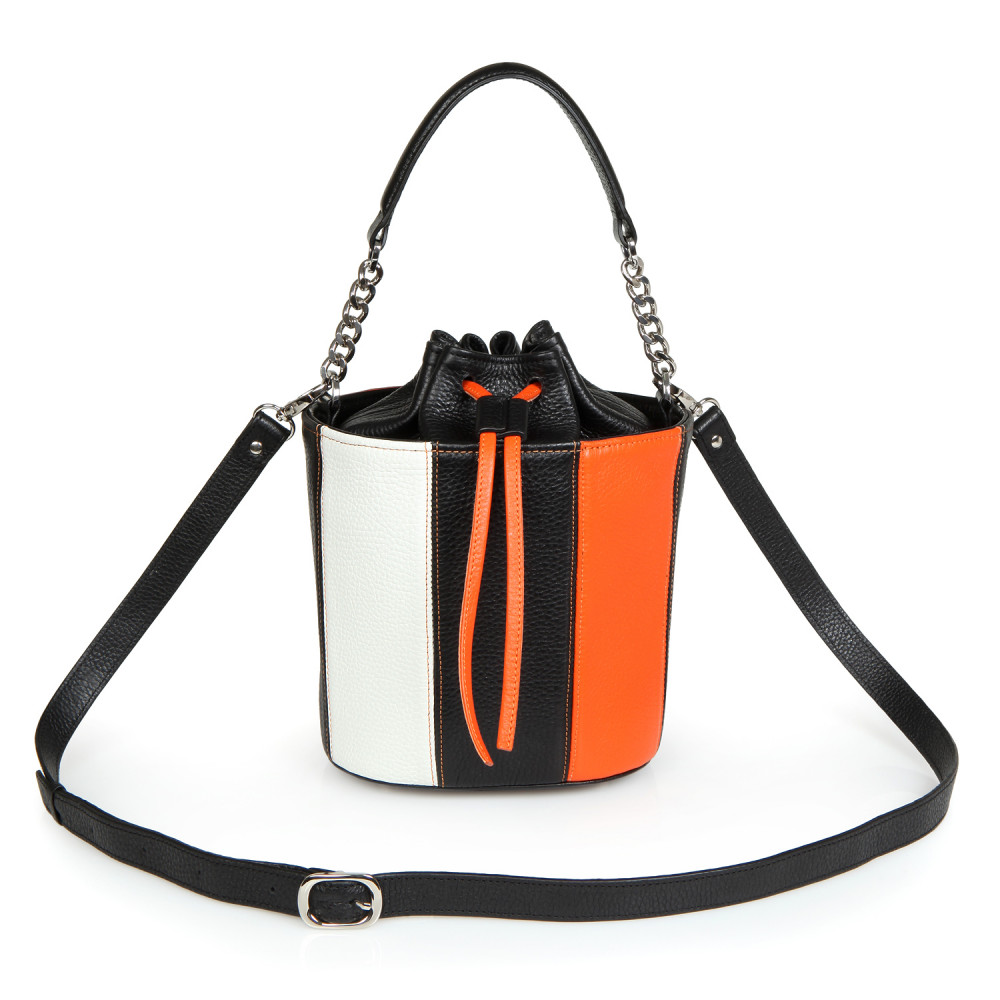Women's leather bucket bag Alla KF-1941