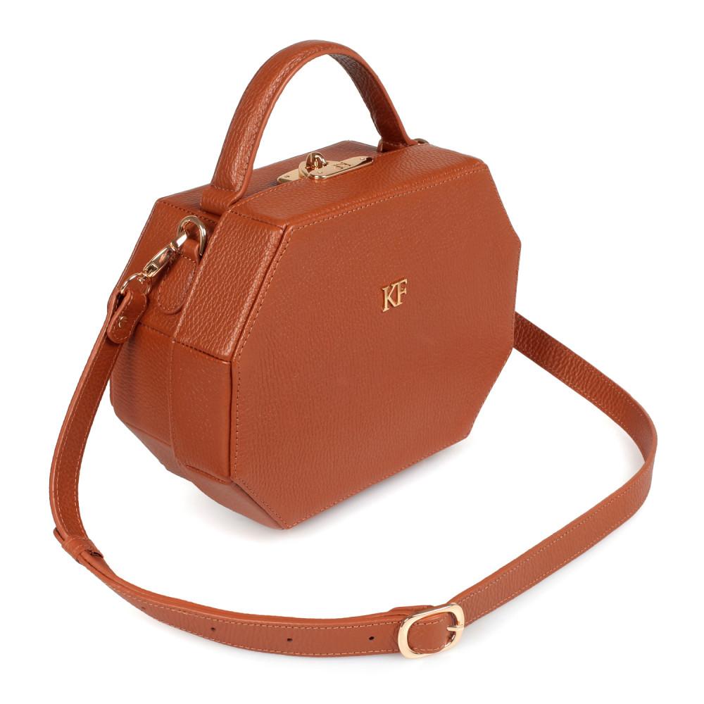 Жіноча шкіряна сумка-шкатулка Alexa KF-1966