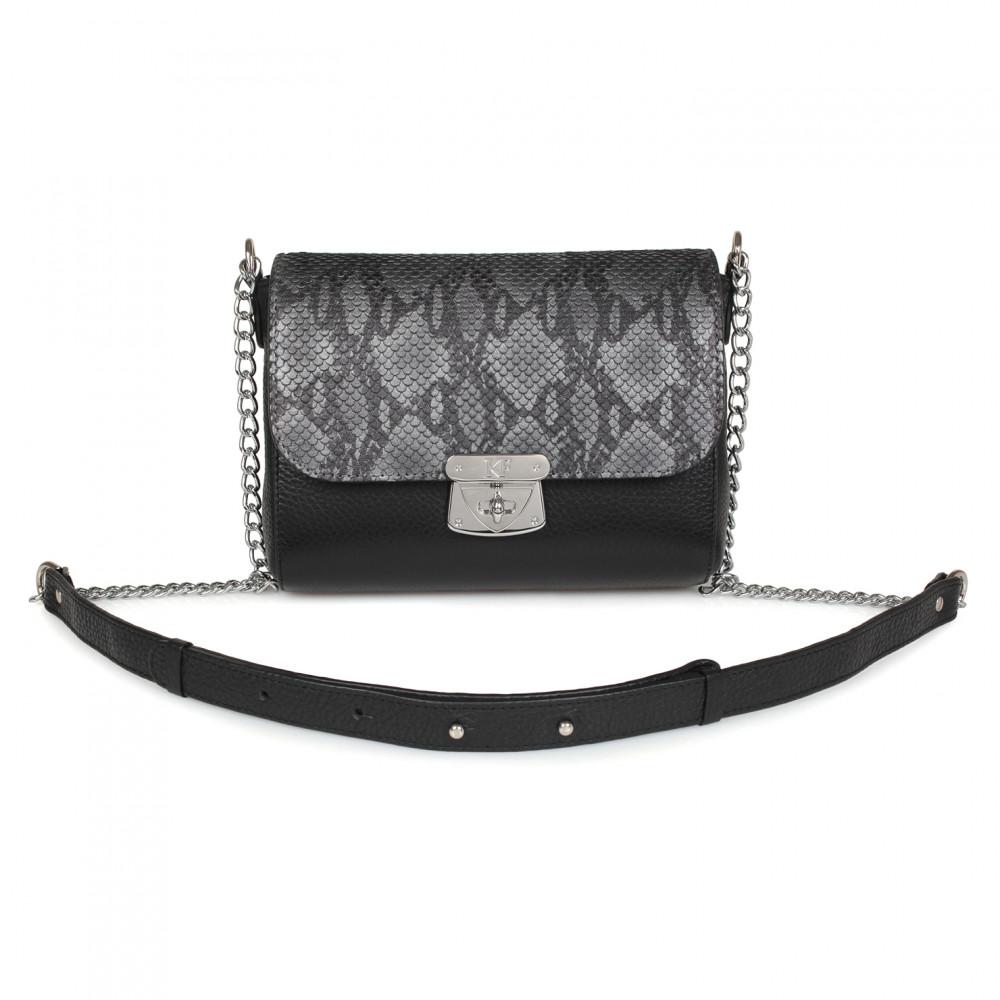 Жіноча шкіряна сумка на ланцюжку Prima S KF-2002