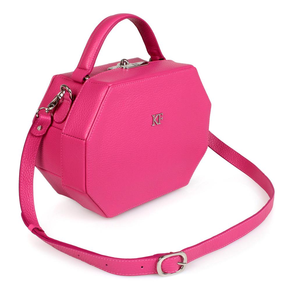 Жіноча шкіряна сумка-шкатулка Alexa KF-2079