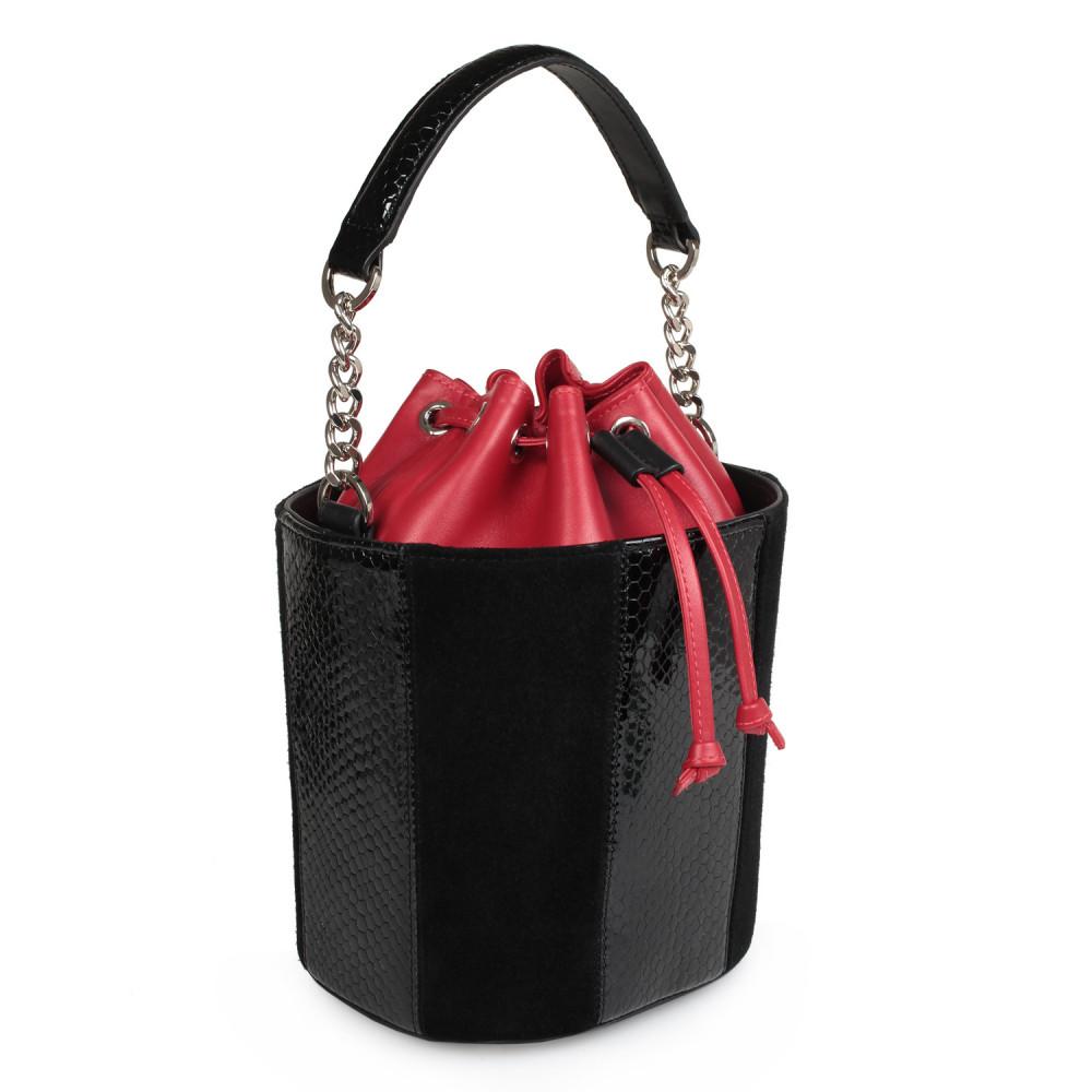 Жіноча шкіряна сумка-відро Alla KF-2133-1
