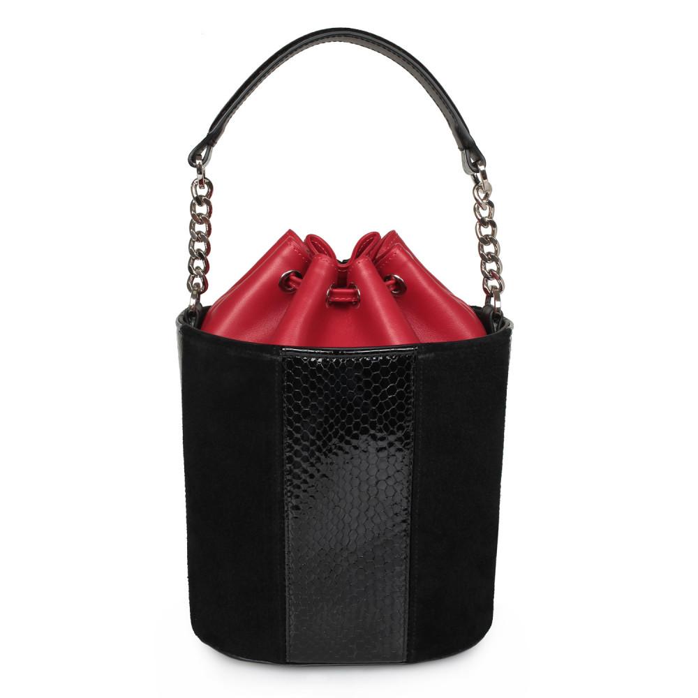 Жіноча шкіряна сумка-відро Alla KF-2133-3