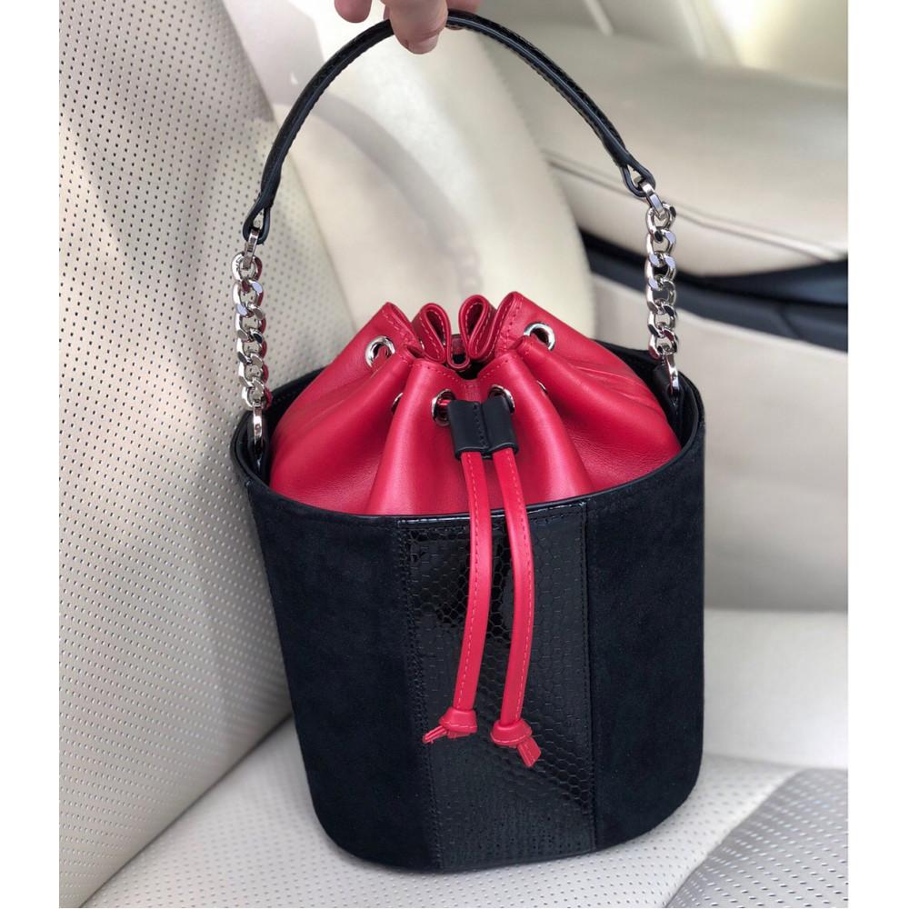 Жіноча шкіряна сумка-відро Alla KF-2133-6