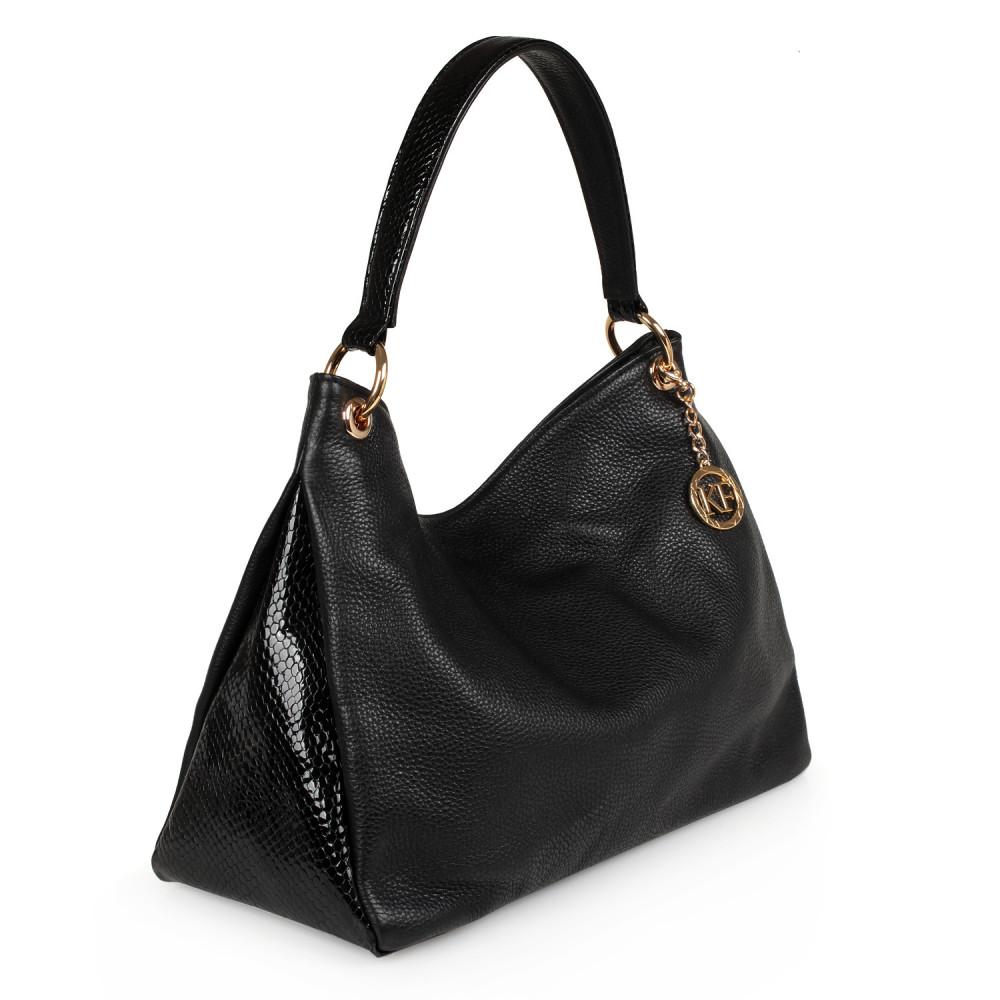 Жіноча шкіряна сумка-мішок Хобо Nadin KF-2180-