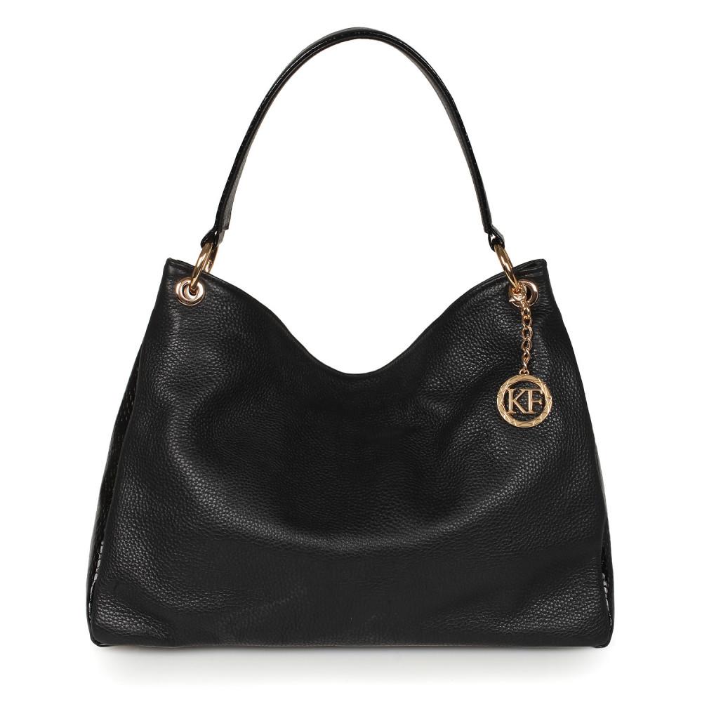 Жіноча шкіряна сумка-мішок Хобо Nadin KF-2180-1