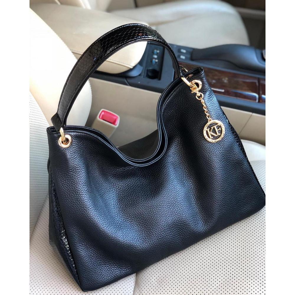 Жіноча шкіряна сумка-мішок Хобо Nadin KF-2180-5