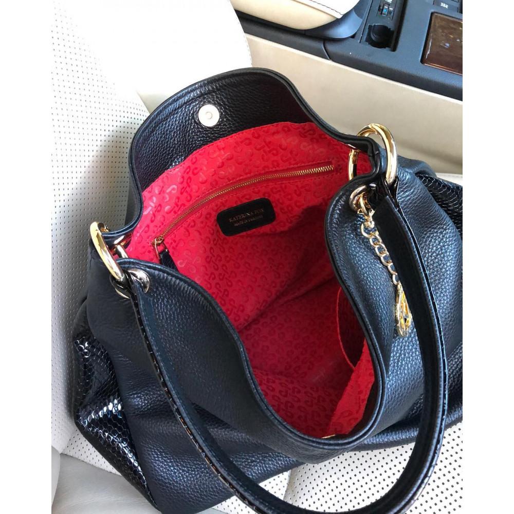 Жіноча шкіряна сумка-мішок Хобо Nadin KF-2180-6