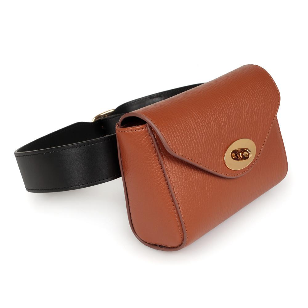 Жіноча шкіряна сумка на пояс Julia KF-2225
