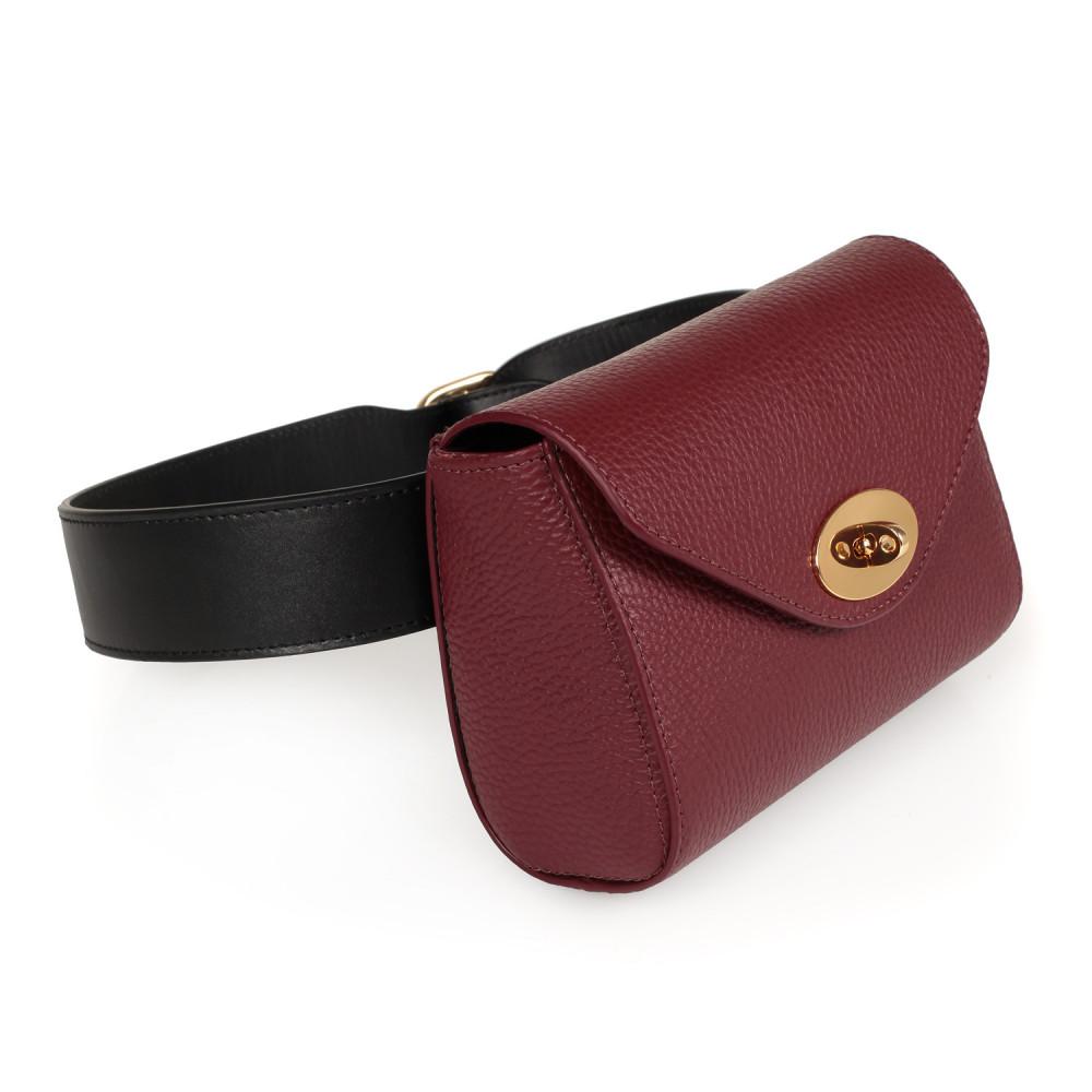 Жіноча шкіряна сумка на пояс Julia KF-2226