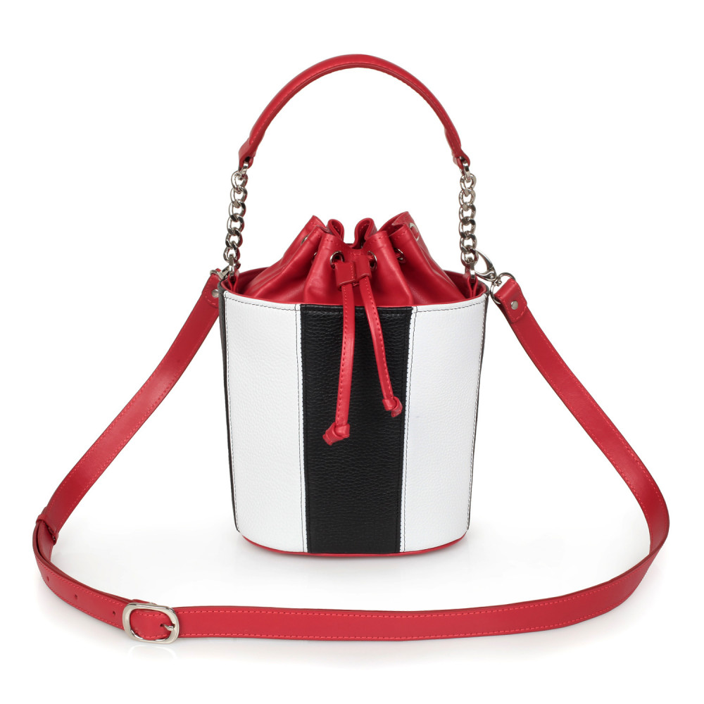 Women's leather bucket bag Alla KF-2332