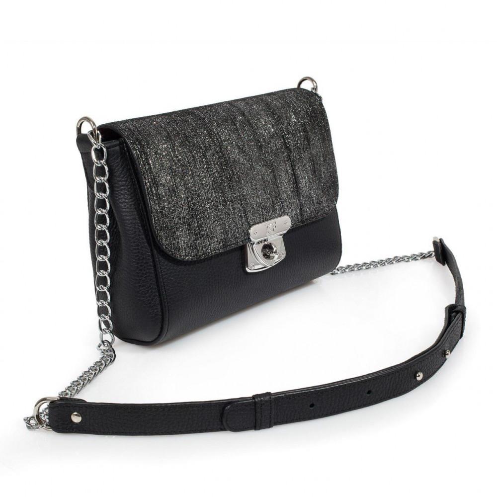 Жіноча шкіряна сумка на ланцюжку Prima S KF-2370-1