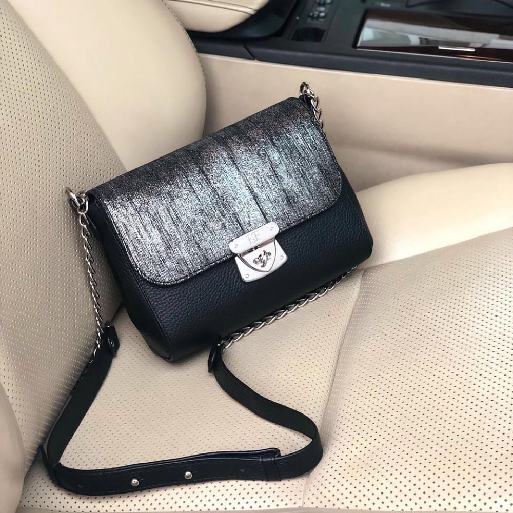 Жіноча шкіряна сумка на ланцюжку Prima S KF-2370-5