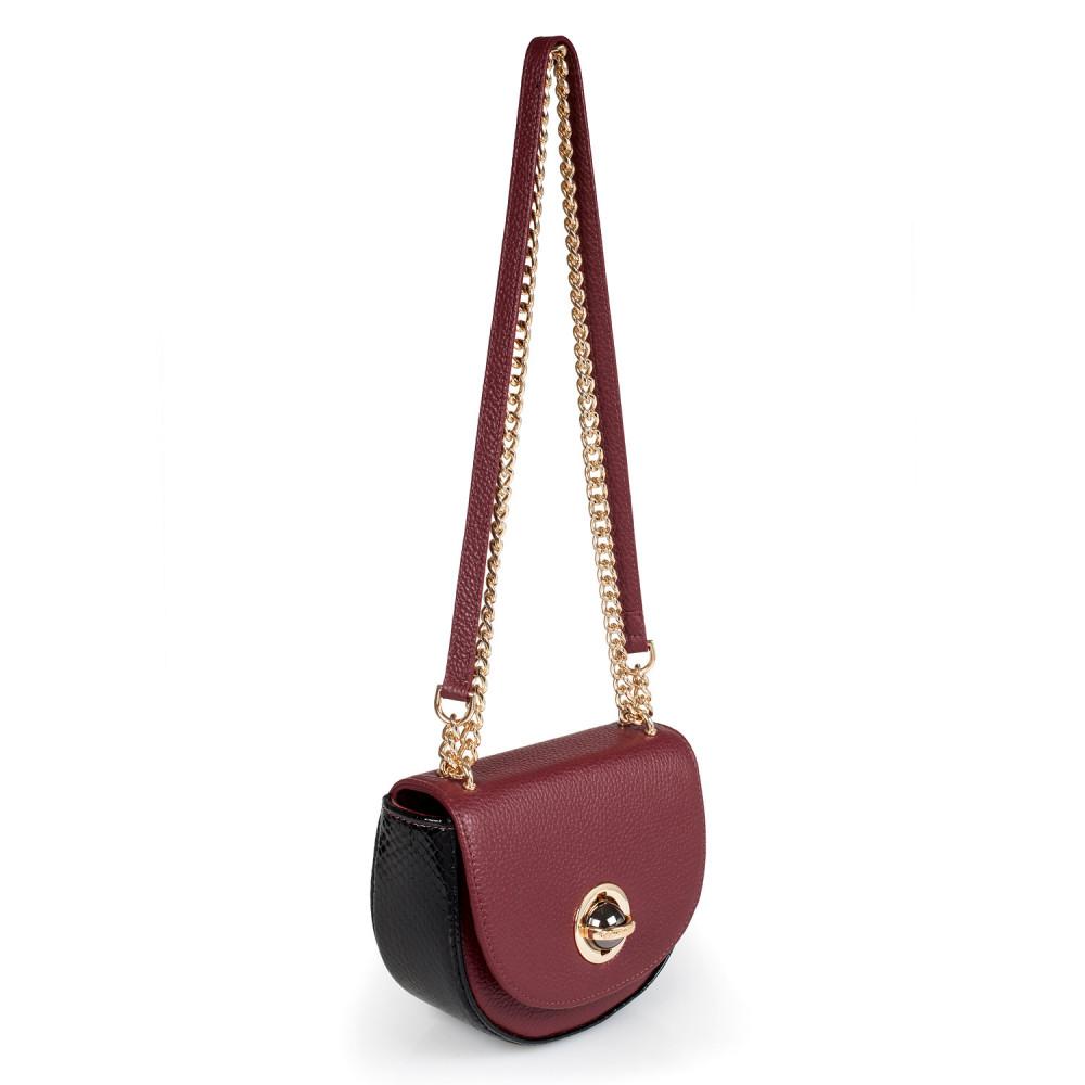 Жіноча шкіряна сумка на ланцюжку Milena KF-2452-1