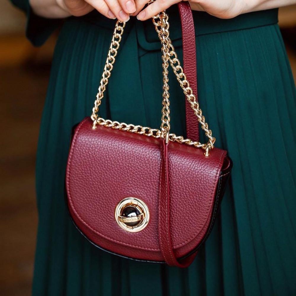 Жіноча шкіряна сумка на ланцюжку Milena KF-2452-7