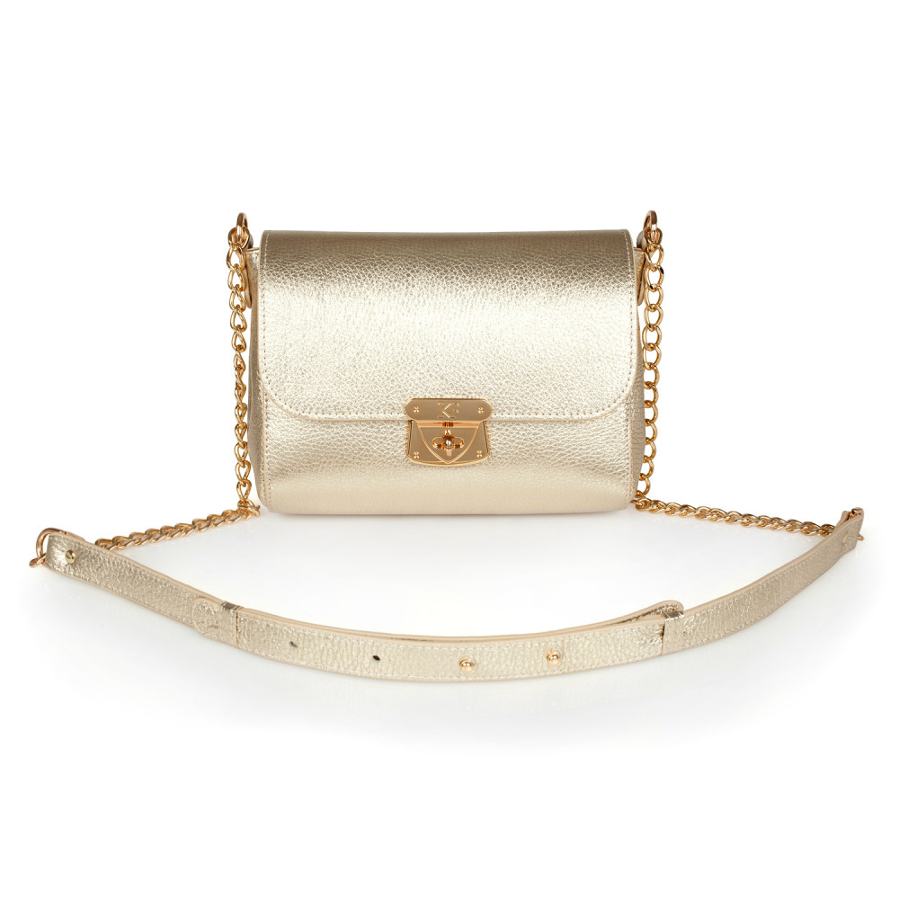 Жіноча шкіряна сумка на ланцюжку Prima S KF-2493
