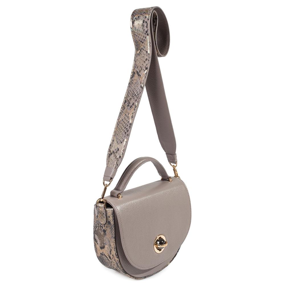 Жіноча шкіряна сумка кросс-боді на широкому ремені Lena KF-2503