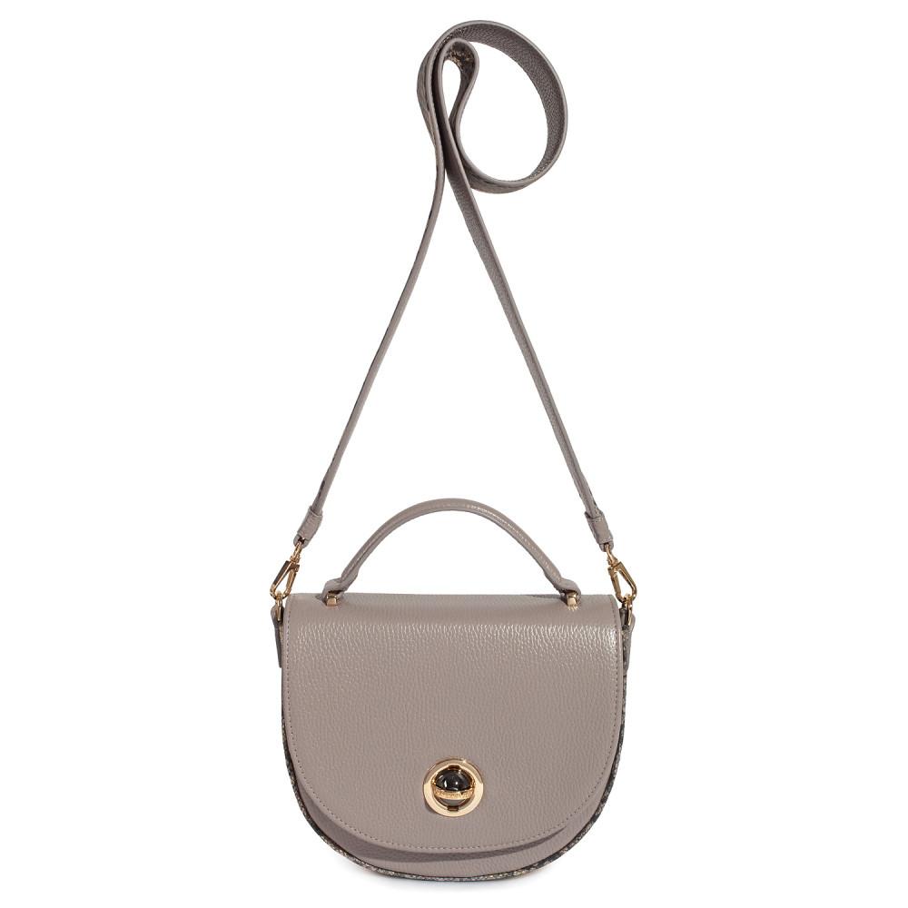Жіноча шкіряна сумка кросс-боді на широкому ремені Lena KF-2503-1