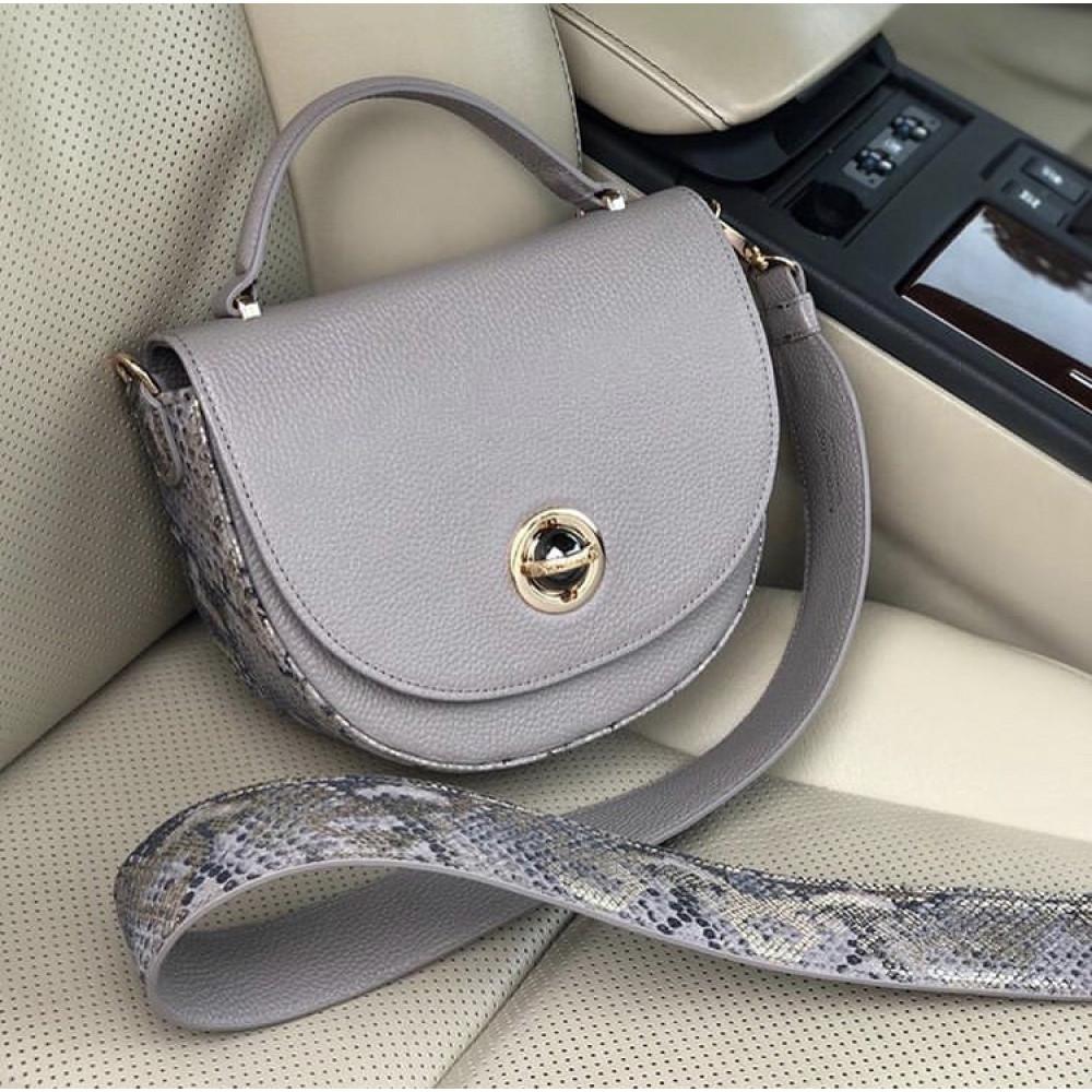 Жіноча шкіряна сумка кросс-боді на широкому ремені Lena KF-2503-4
