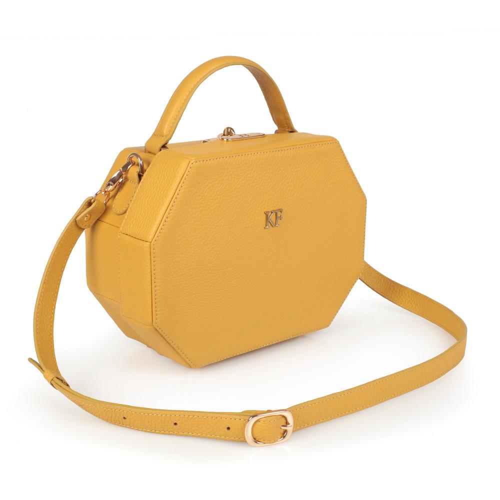 Жіноча шкіряна сумка-шкатулка Alexa KF-2516