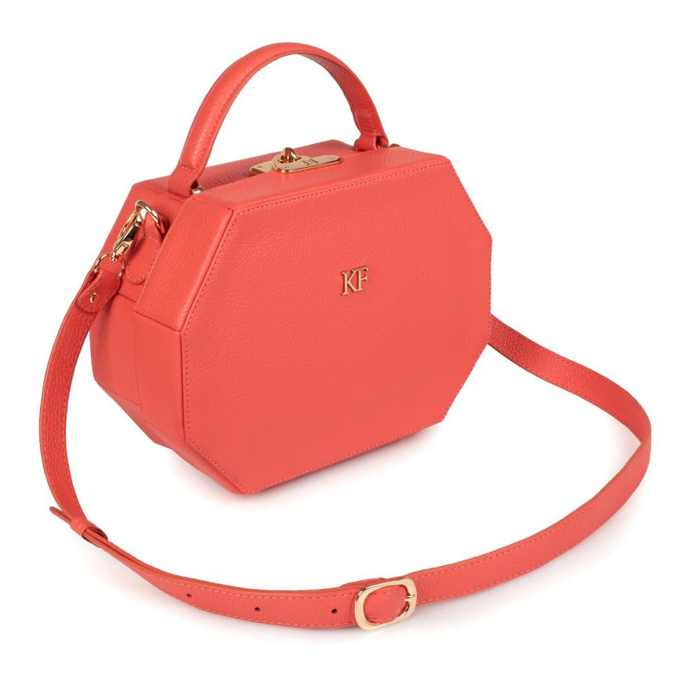 Жіноча шкіряна сумка-шкатулка Alexa KF-2517
