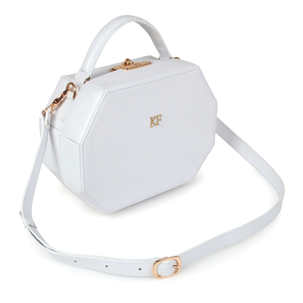 Жіноча шкіряна сумка-шкатулка Alexa KF-2518
