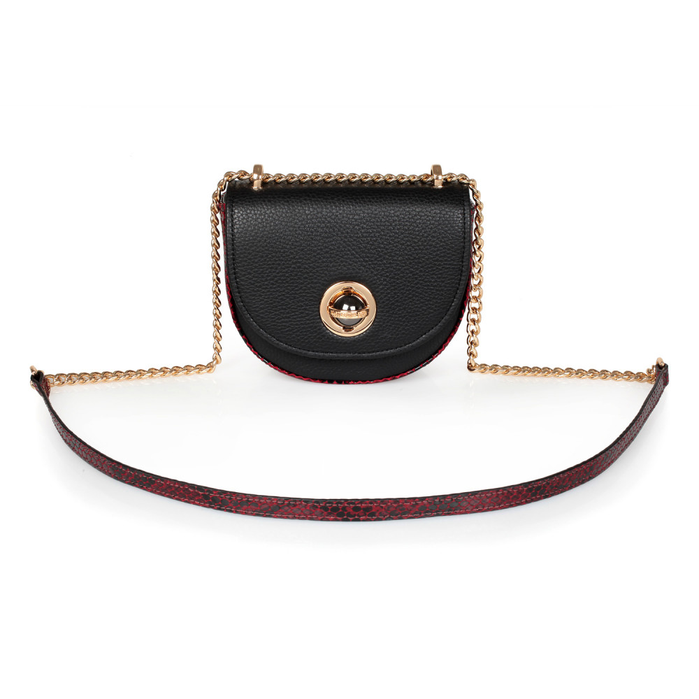 Жіноча шкіряна сумка на ланцюжку Milena KF-2553