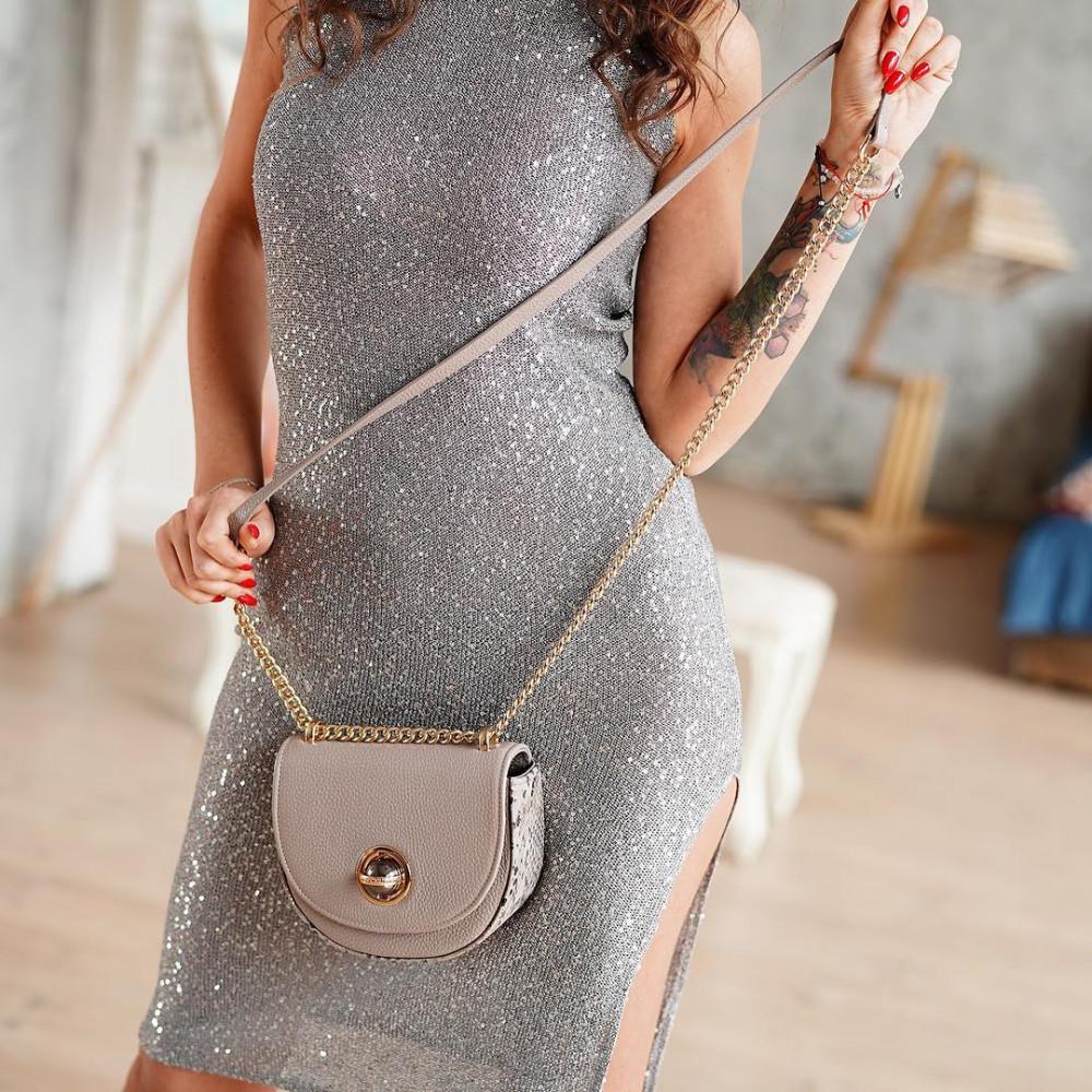 Жіноча шкіряна сумка на ланцюжку Milena KF-2554-5