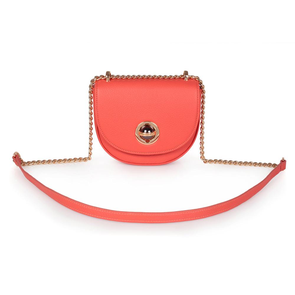 Жіноча шкіряна сумка на ланцюжку Milena KF-2555