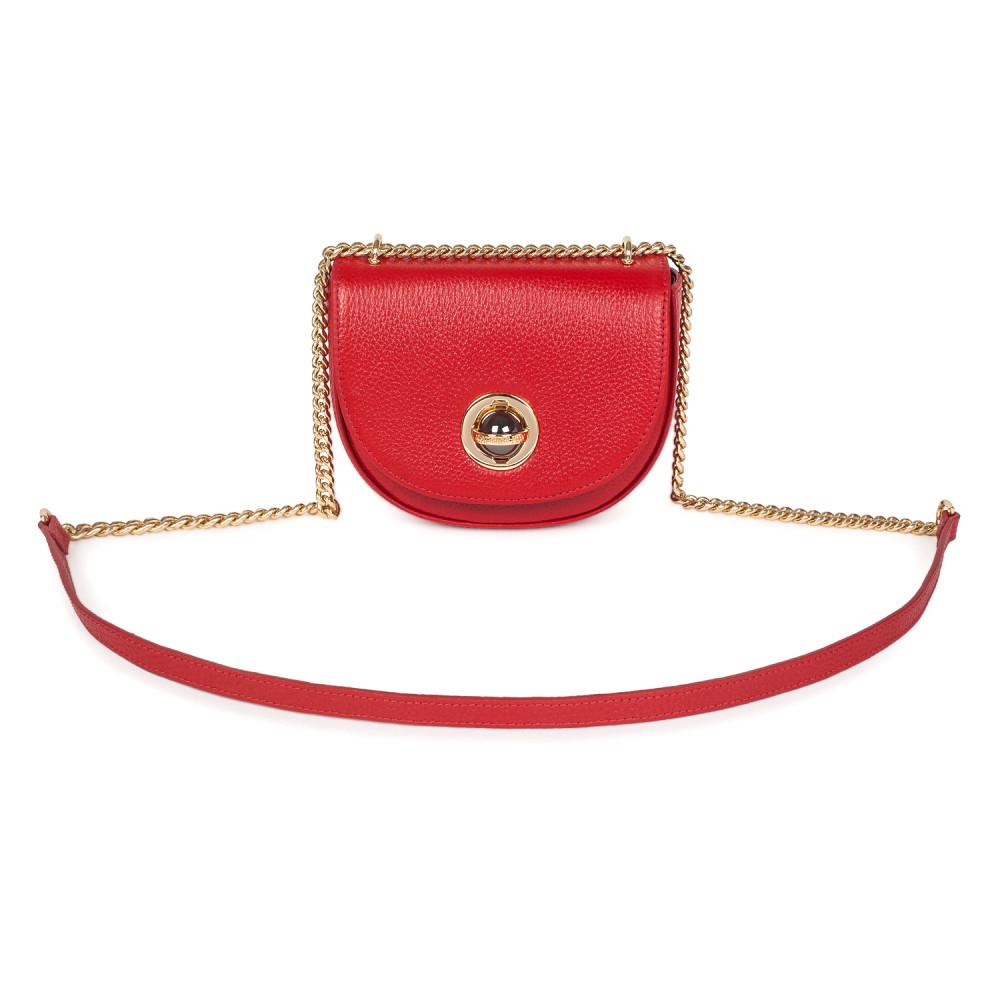 Жіноча шкіряна сумка на ланцюжку Milena KF-2557