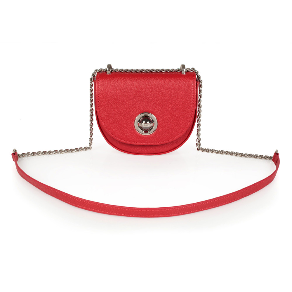 Жіноча шкіряна сумка на ланцюжку Milena KF-2558