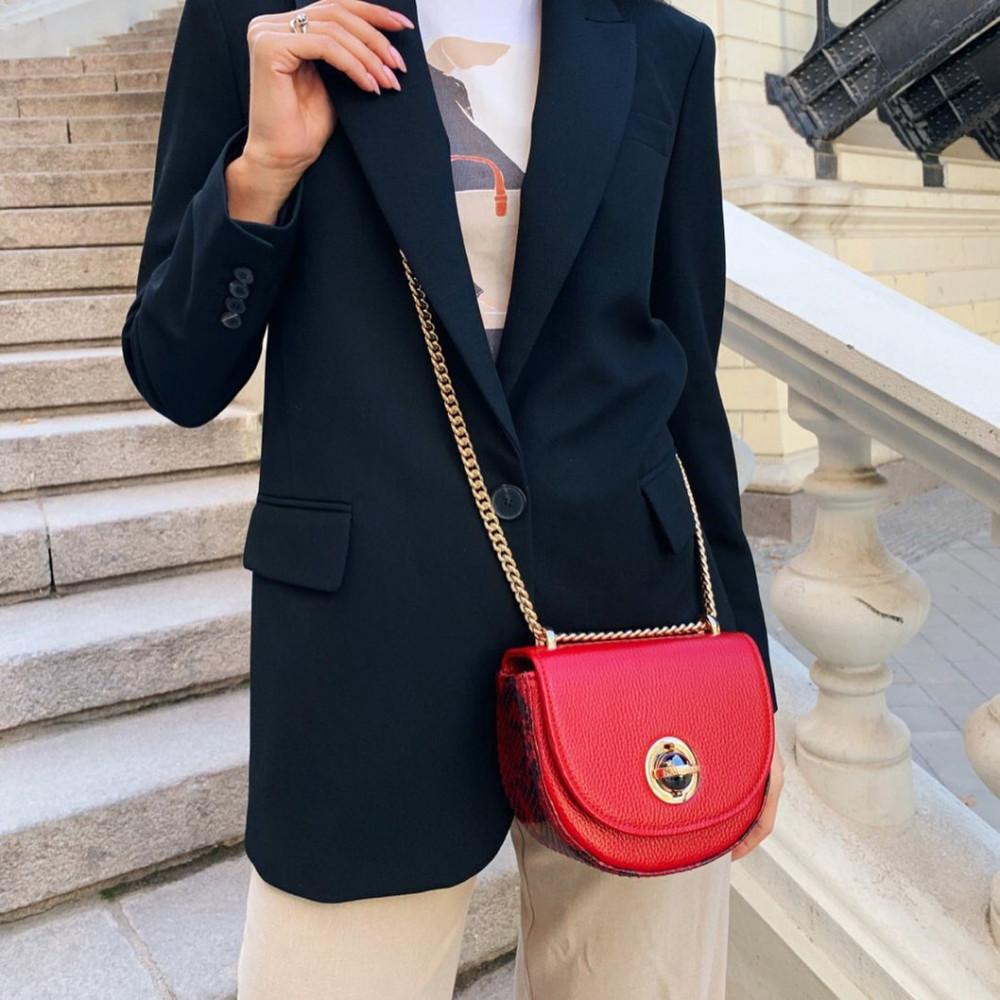 Жіноча шкіряна сумка на ланцюжку Milena KF-2560-5