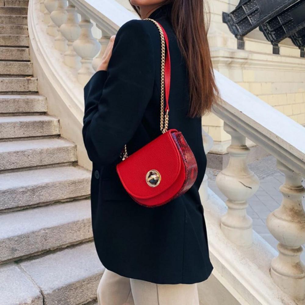 Жіноча шкіряна сумка на ланцюжку Milena KF-2560-6