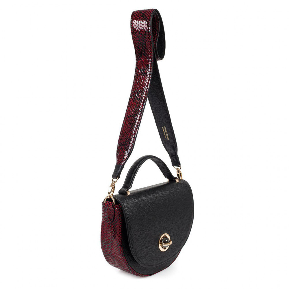 Жіноча шкіряна сумка кросс-боді на широкому ремені Lena KF-2638