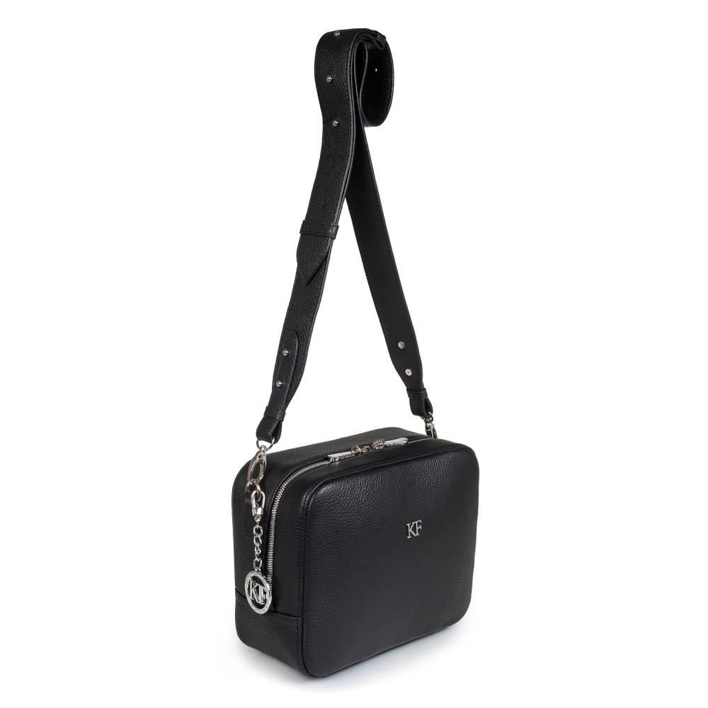 Жіноча шкіряна сумка кросс-боді на широкому ремені Tatiana M KF-2676