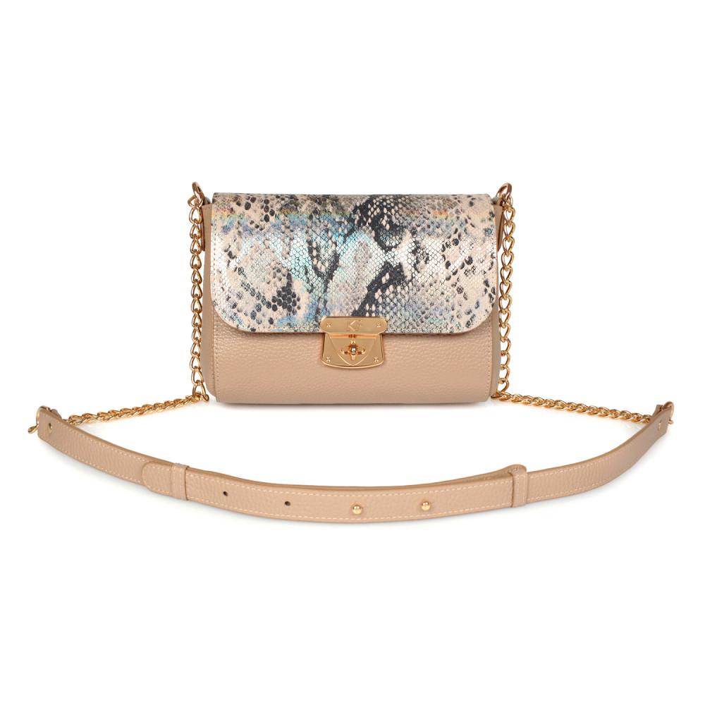 Жіноча шкіряна сумка на ланцюжку Prima S KF-2690