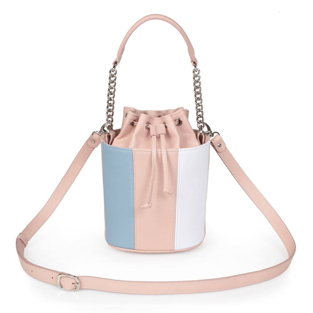 Women's leather bucket bag Alla KF-2736