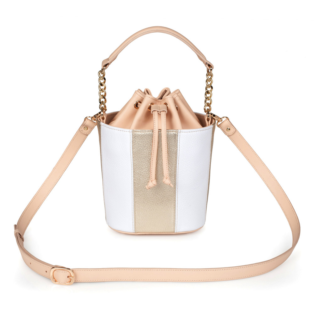 Women's leather bucket bag Alla KF-2751