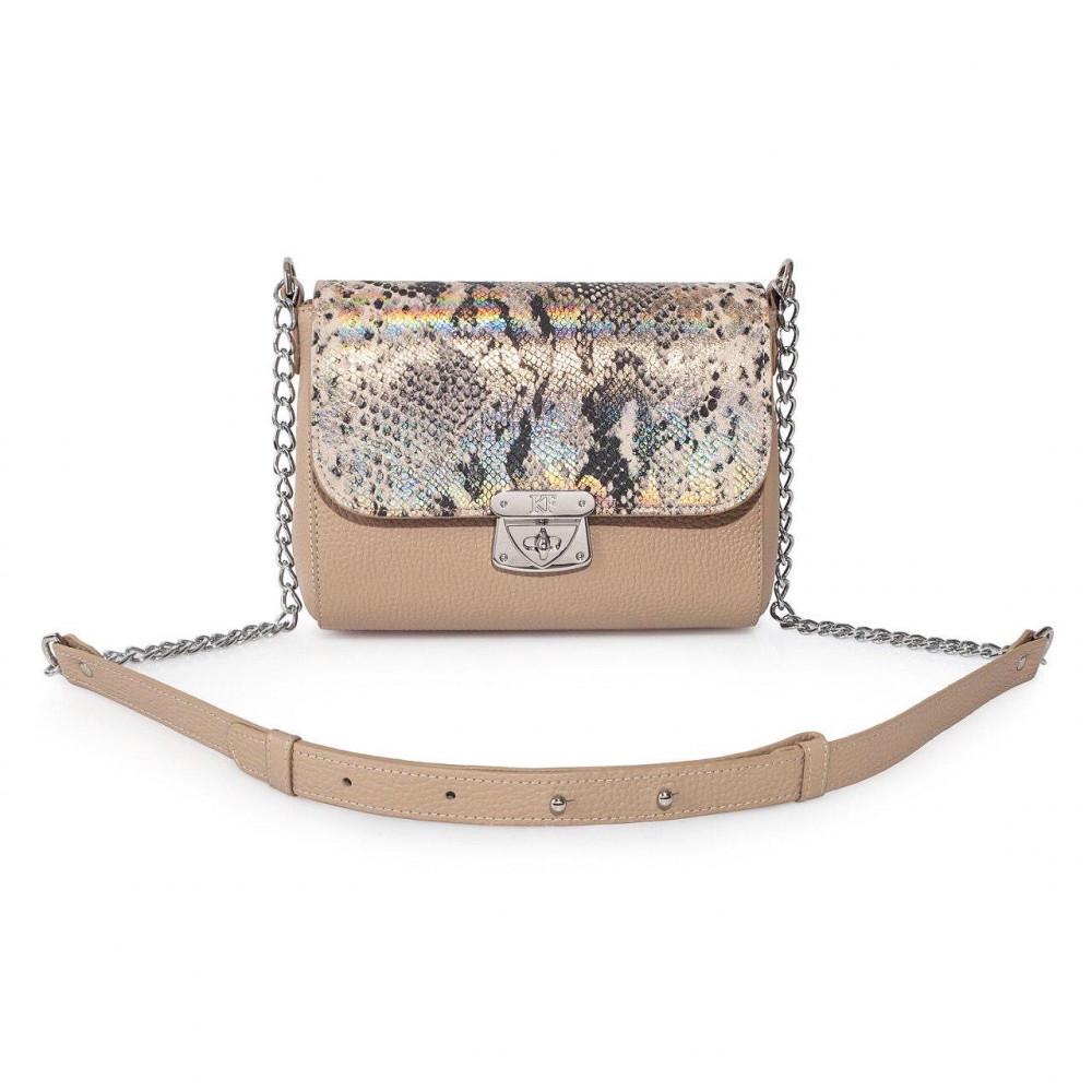 Жіноча шкіряна сумка на ланцюжку Prima S KF-2778