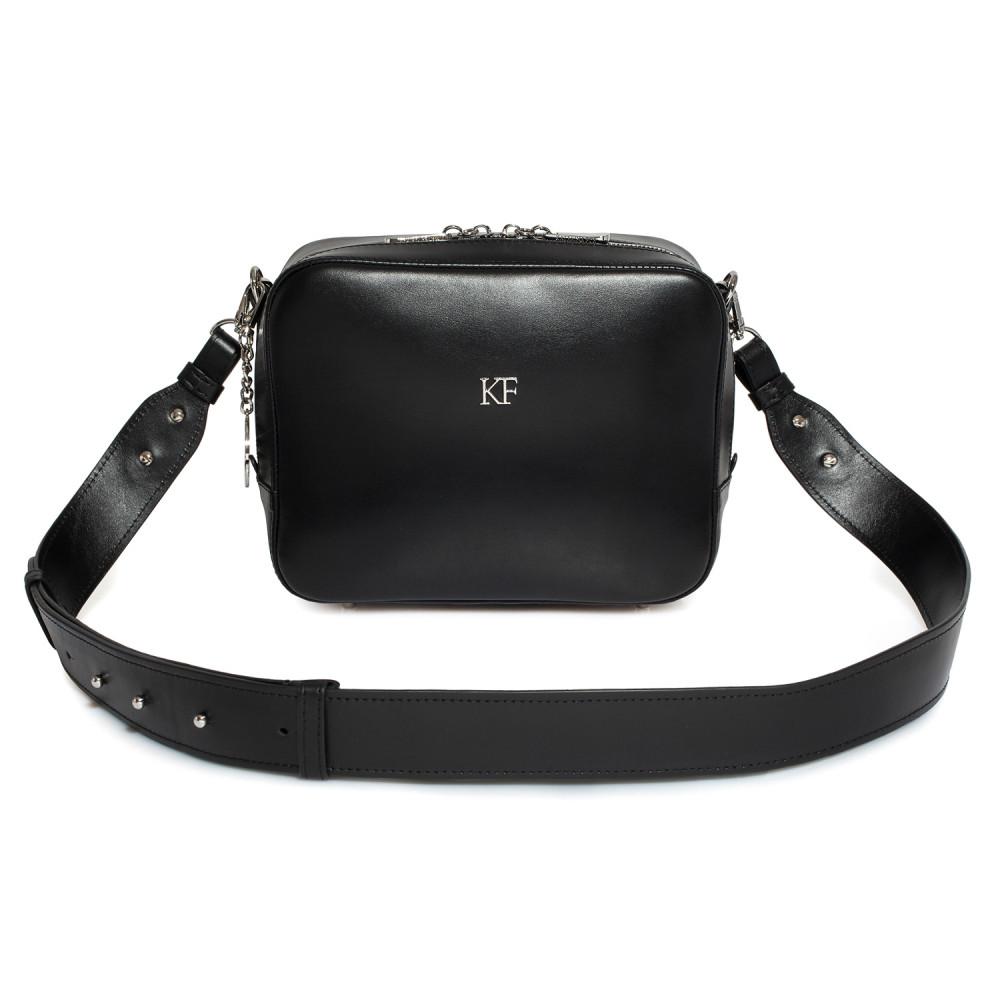 Жіноча шкіряна сумка кросс-боді на широкому ремені Tatiana M KF-2824-1