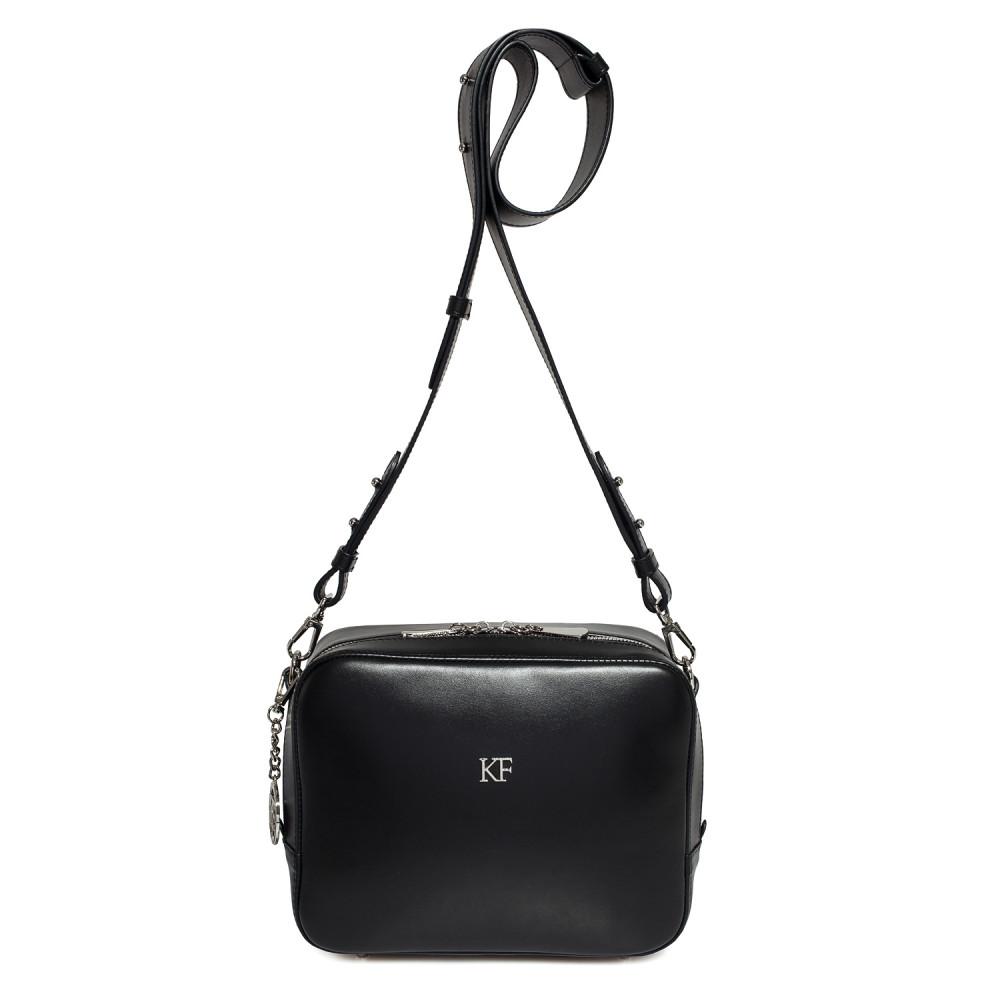 Жіноча шкіряна сумка кросс-боді на широкому ремені Tatiana M KF-2824-2