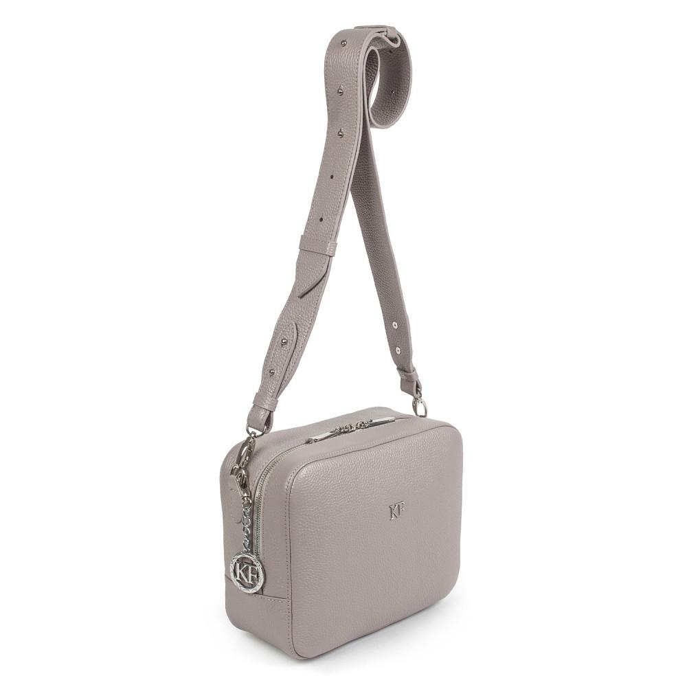 Жіноча шкіряна сумка кросс-боді на широкому ремені Tatiana M KF-2844